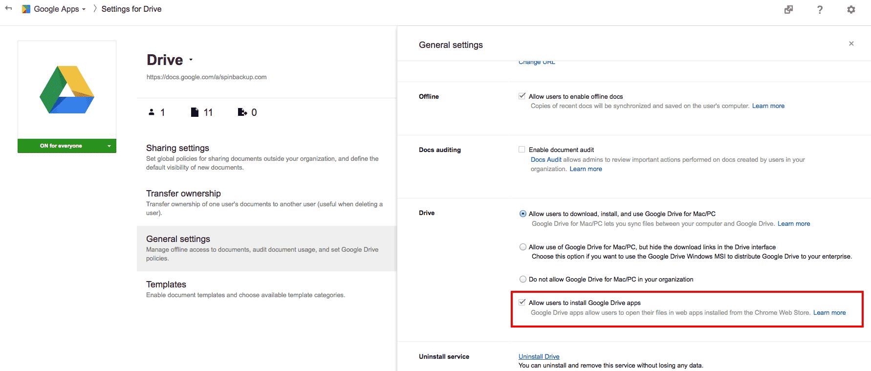 google drive per mac