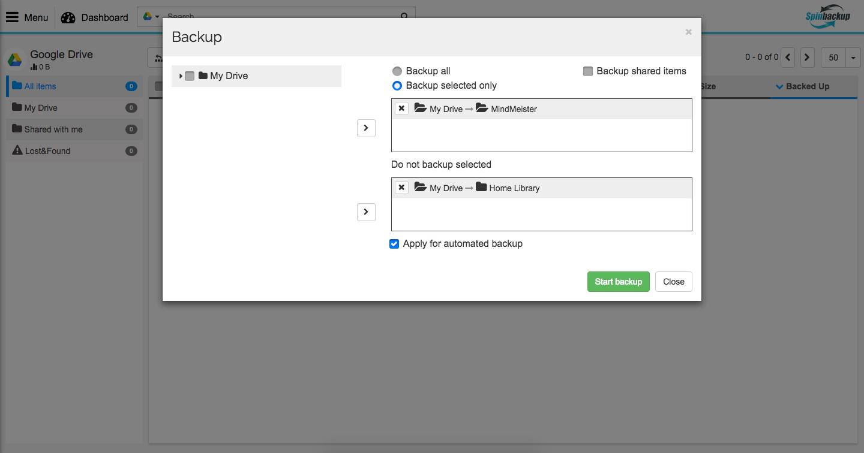 manual google backup drive Spinbackup