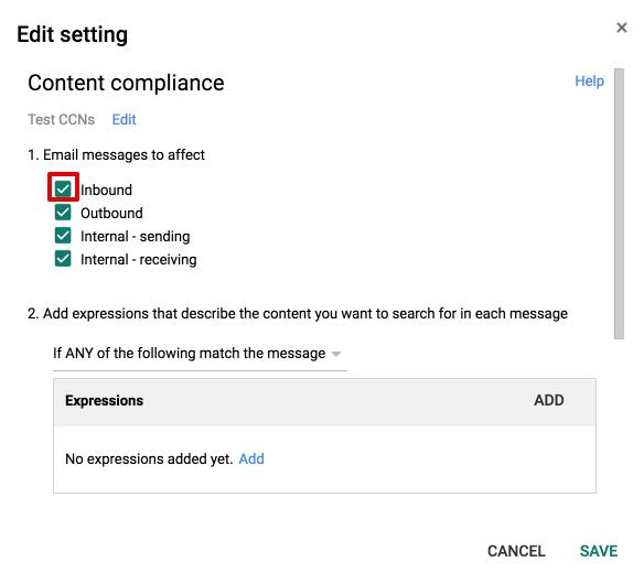 Google gmail dlp rule effect