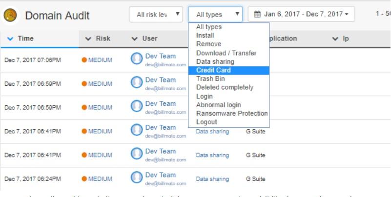 Domain Audit Dashboard allows G Suite Administrators tremendous visibility into G Suite security events