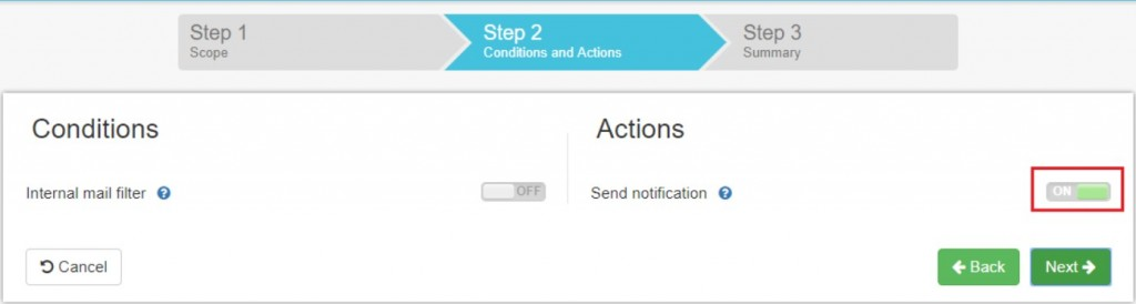 Security alerts can be configured with CCNs are detected