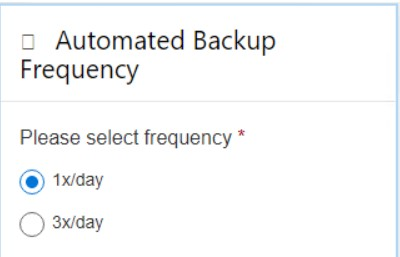 Choosing the Spinbackup Automated Backup Frequency