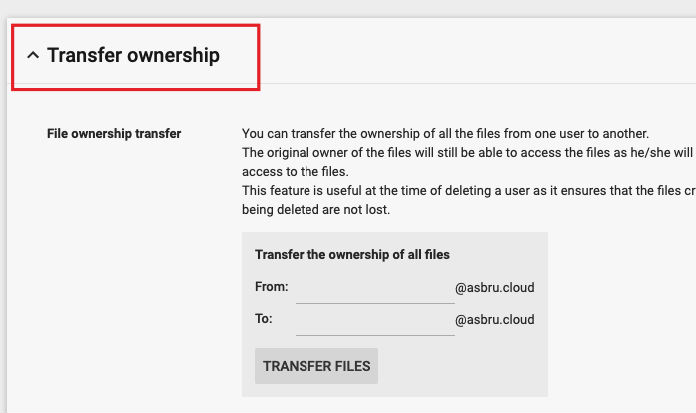 How to transfer ownership in G Suite