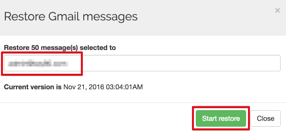 Transferring emails from G Suite