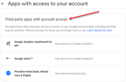 Accessing app permissions - how to secure google drive