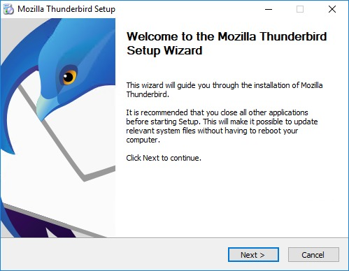 Installing Mozilla Thunderbird for importing MBOX to Gmail