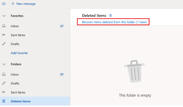 how to recover emails deleted from trash in outlook