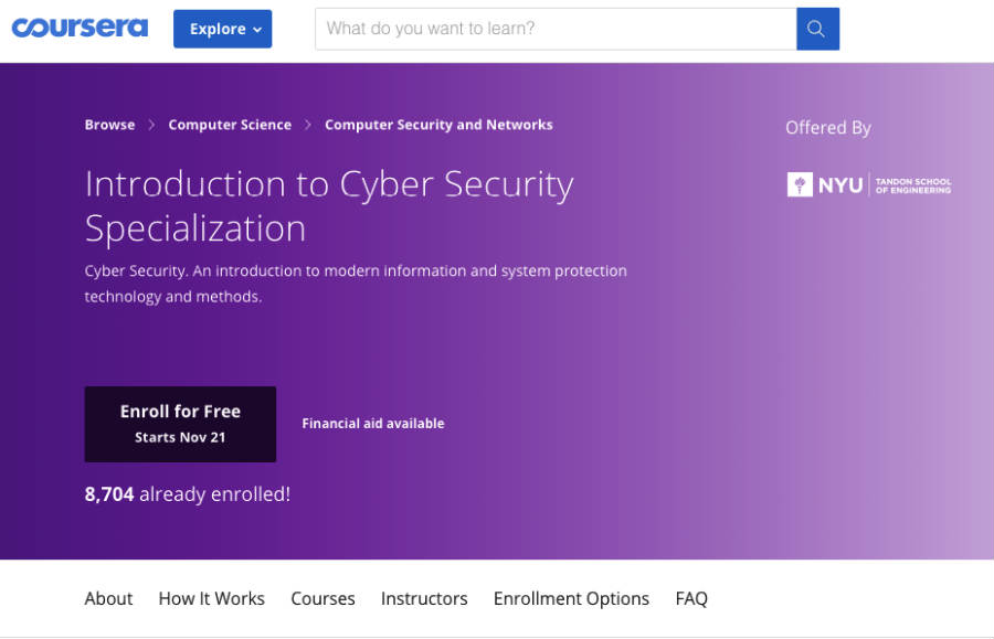 Best courses on cyber security