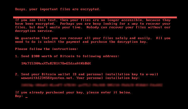 Petya and NotPetya ransomware examples