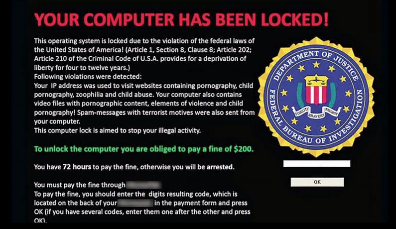 How ransomware works: locker ransomware