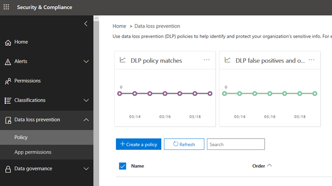 configure DLP in Office 365
