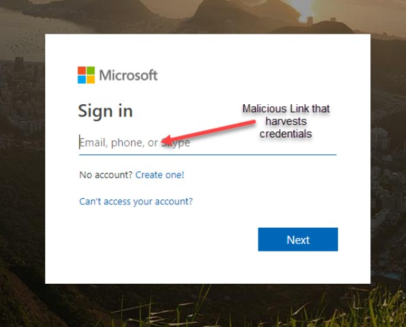 Office 365 email phishing