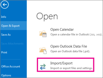 How to backup contacts in Outlook