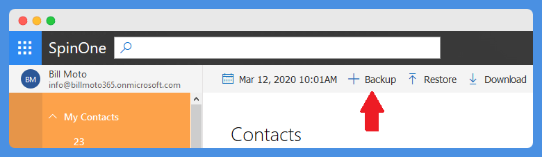 How to backup Outlook emails and contacts
