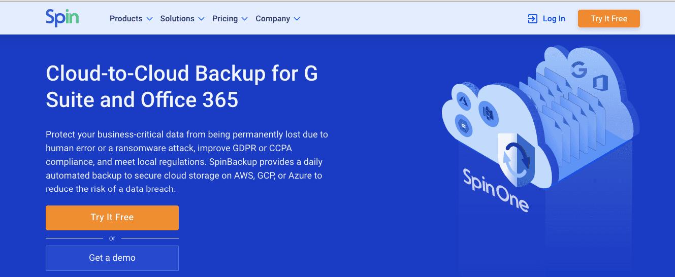 Data loss prevention tool: Spinbackup