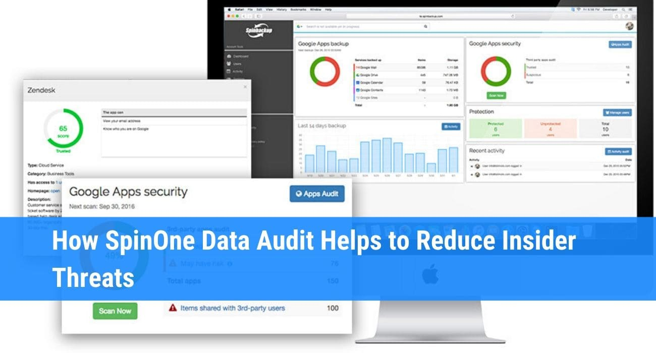 Data audit tool for G Suite SpinOne