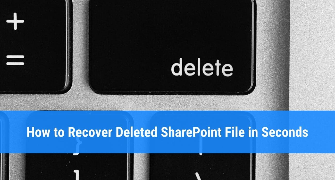 How to recover deleted SharePoint file or folder