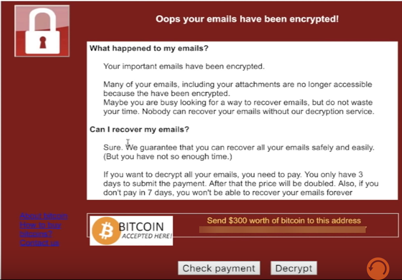 How ransomware encrypts emails