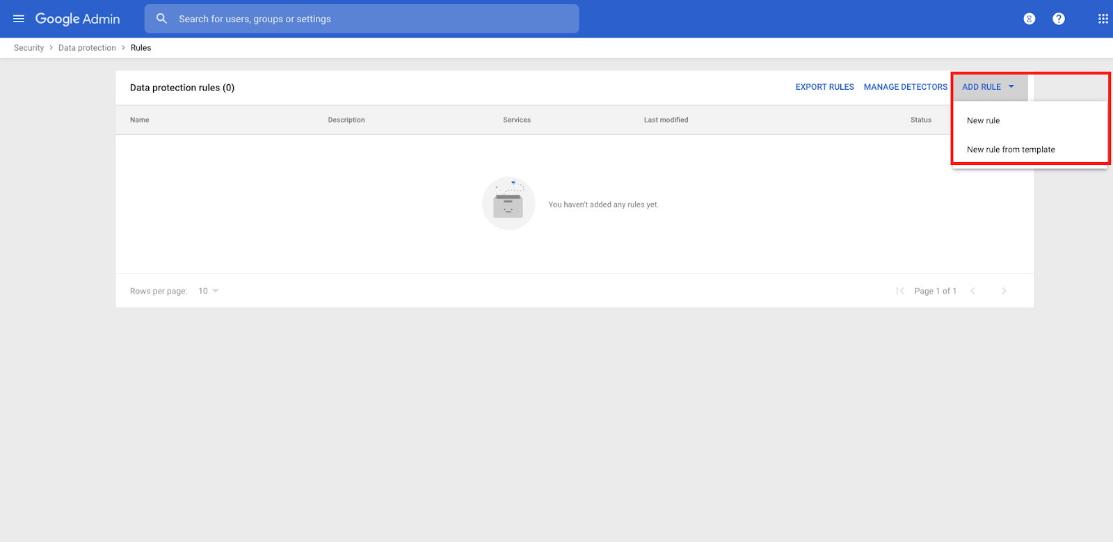 Security policies for Google Drive data