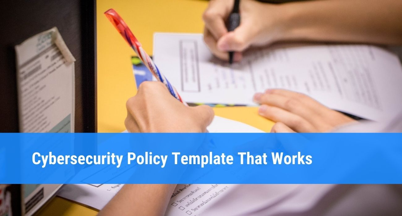 Cybersecurity Policy Template Creation