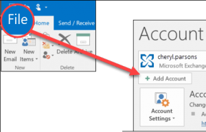 recreate outlook account manually1