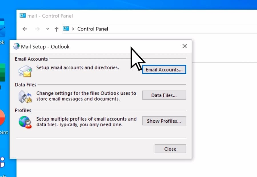 recreate outlook account manually3