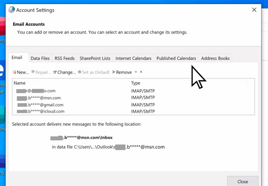 recreate outlook account manually4