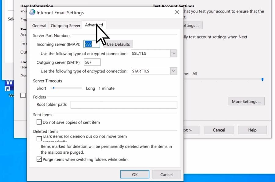 recreate outlook account manually6